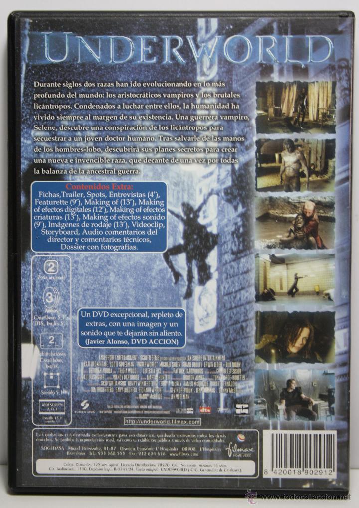 Cine: DVD UNDERWORLD , KATE BECKINSALE / SCOTT SPEEDMAN , 2 DISCOS - Foto 2 - 43542546