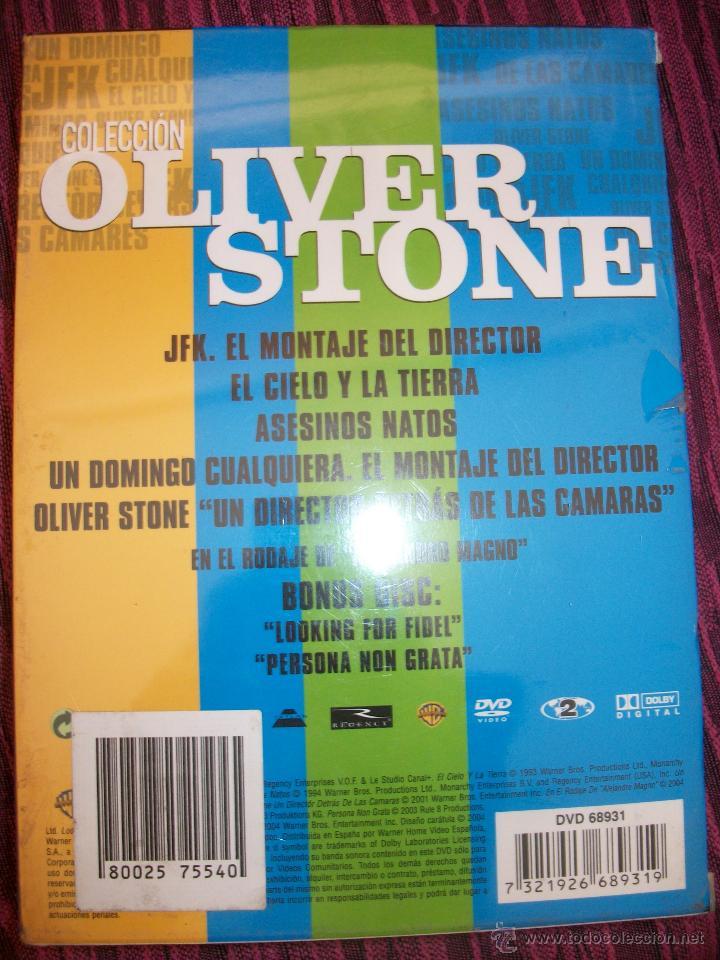 PACK COLECCIÓN OLIVER STONE – 8 DVD'S – PRECINTADO – JFK – ASESINOS NATOS – EL CIELO Y LA TIERRA – (Cine - Películas - DVD)