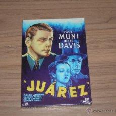 Cine: JUAREZ DVD PAUL MUNI BETTE DAVIS NUEVA PRECINTADA. Lote 98727238