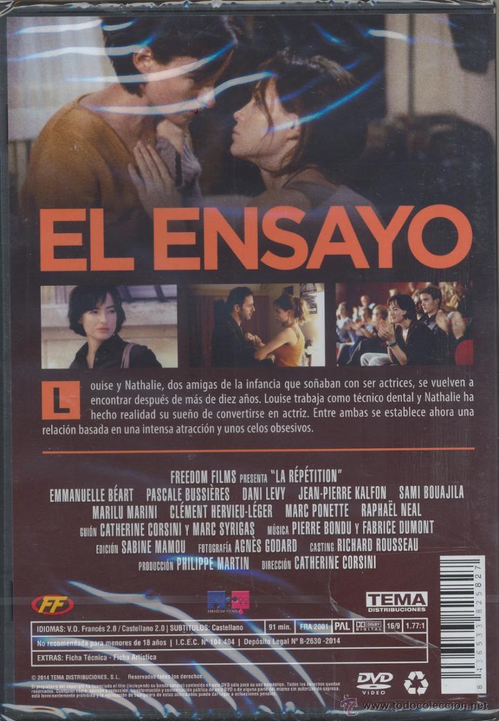 Cine: El ensayo DVD. Amor y Celos entre mujeres. Precintada.(LEER) - Foto 2 - 43710003