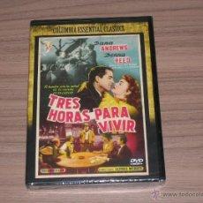 Cine: TRES HORAS PARA VIVIR DVD DANA ANDREWS DONNA REED NUEVA PRECINTADA. Lote 218470946
