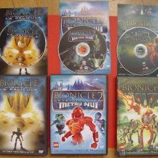 Cine: LOTE 3 DVD: BIONICLE (BUENA VISTA, 2003-05) ¡COLECCIONISTA! ¡CON FOLLETOS! ¡ORIGINALES!. Lote 44252932