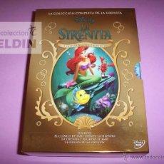 Cine: LA SIRENITA DISNEY LA COLECCION COMPLETA DE LA SIRENITA EN DVD PACK NUEVO Y PRECINTADO. Lote 82586467