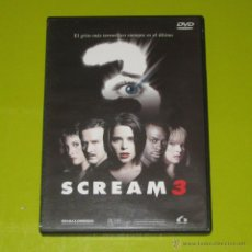 Cine: DVD.- SCREAM 3 - WES CRAVEN - DESCATALOGADA. Lote 44339745