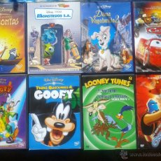 Cine: LOTE 8 DVDS/ DISNEY Y WARNER**POCAHONTAS*CARS*DAMA Y VAGABUNDO 2*MONSTRUOS SA*GOOFY**OSMOSIS JONES. Lote 44475344