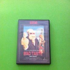 Cine: BAD TASTE (MAL GUSTO) PETER JACKSON - TERROR GORE - DVD (DESCATALOGADO) RARO DE ENCONTRAR. Lote 44749175