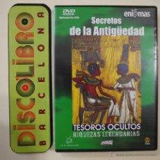 Cine: TESOROS OCULTOS. RIQUEZAS LEGENDARIAS - SECRETOS DE LA ANTIGÜEDAD - ENIGMAS - DVD. Lote 295515308