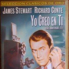 Cine: YO CREO EN TI (HENRY HATHAWAY, 1948, JAMES STEWART, RICHARD CONTE, LEE J. COBB). Lote 45035946