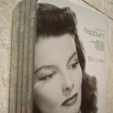 Cine: KATHARINE HEPBURN. ESTUCHE CON 5 DVD. FALDAS DE ACERO, MARIA ESTUARDO... PRECINTADO.. Lote 222459822
