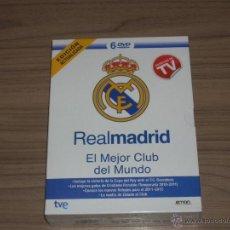 Cine: REAL MADRID C.F. EL MEJOR CLUB DEL MUNDO 6 DVD NUEVO PRECINTADO FUTBOL EDICION ACTUALIZADA. Lote 148212749