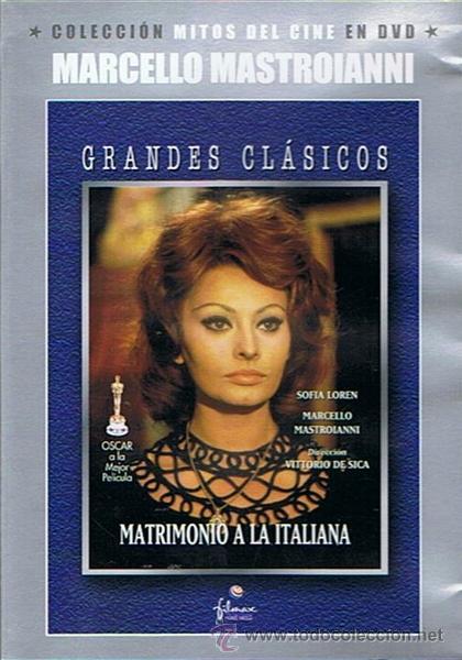 DVD MATRIMONIO A LA ITALIANA SOFÍA LOREN / MARCELLO MASTROIANNI (Cine - Películas - DVD)
