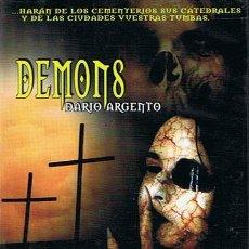 Cine: DVD DEMONS DARIO ARGENTO . Lote 45934661
