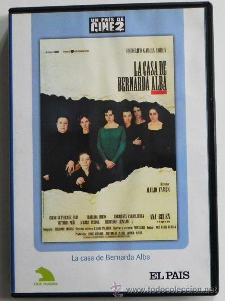 LA CASA DE BERNARDA ALBA DVD PELÍCULA DRAMA LORCA MARIO CAMUS ANA BELÉN CHICO PASTOR GUTIÉRREZ CABA (Cine - Películas - DVD)
