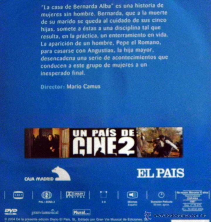Cine: LA CASA DE BERNARDA ALBA DVD PELÍCULA DRAMA LORCA MARIO CAMUS ANA BELÉN CHICO PASTOR GUTIÉRREZ CABA - Foto 2 - 46533097