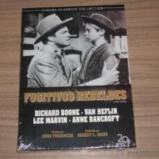 Cinema: FUGITIVOS REBELDES DVD LEE MARVIN RICHARD BOONE NUEVA PRECINTADA. Lote 262637465