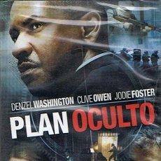 Cine: DVD PLAN OCULTO DENZEL WASHINGTON / JODIE FOSTER (PRECINTADO). Lote 46719570