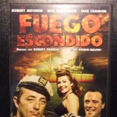 Cine: FUEGO ESCONDIDO. DVD DE LA PELICULA DE ROBERT PARRISH, CON ROBERT MITCHUM, RITA HAYWORTH Y JACK LEMM. Lote 46741009