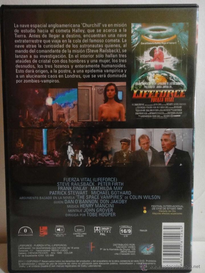 Cine: LIFEFORCE FUERZA VITAL PELICULA DVD COMO NUEVO - Foto 2 - 46936029