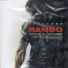 Cine: DVD JOHN RAMBO VUELTA AL INFIERNO STALLONE (PRECINTADO). Lote 46980015