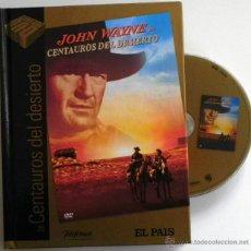 Cine: CENTAUROS DEL DESIERTO DVD + LIBRO PELÍCULA DEL OESTE - JOHN WAYNE FORD CLÁSICO EL PAÍS CINE DE ORO. Lote 47030110