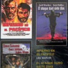 Cine: DVD PELÍCULAS - INFIERNO EN EL PACÍFICO / ATAQUE DURÓ 7 DÍAS / PRISIONERAS DE GUERRA PELÍCULA BÉLICA. Lote 47099558