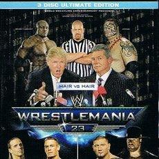 Cine: DVD WRESTLEMANIA 23 3 DISC ULTIMATE EDITION. Lote 47252610