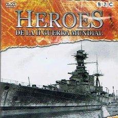 Cine: DVD HEROES DE LA II GUERRA MUNDIAL BBC (PRECINTADO). Lote 47323357