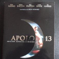 Cine: APOLO 13. DVD DE LA PELICULA DE RON HOWARD. CON TOM HANKS, KEVIN BACON, BILL PAXTON, GARY SINISE Y E. Lote 47376391