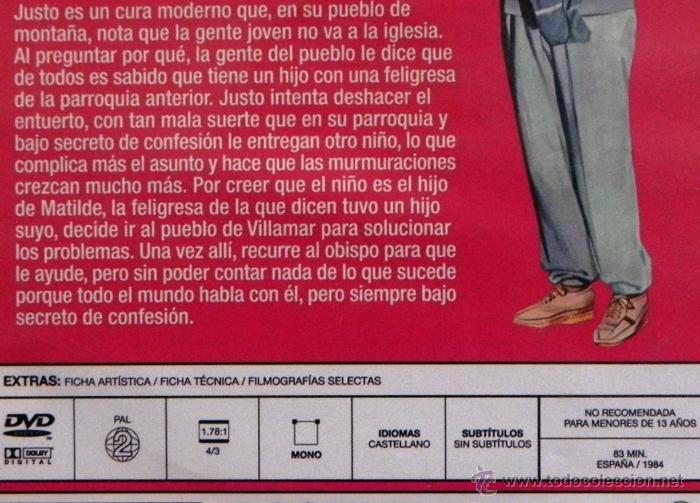 Cine: EL CURA YA TIENE HIJO - DVD PELÍCULA COMEDIA - FERNANDO ESTESO ANTONIO OZORES NAVARRO DEL REAL CHICO - Foto 2 - 54361404