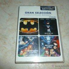 Cine: PACK DE 4 PELÍCULAS EN DVD DE BATMAN. Lote 47761836