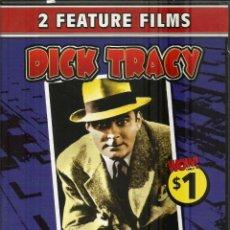 Cine: DVD CON DOS PELICULAS EN INGLÉS--DICK TRACY ENCUENTRA CON GRUESOME Y EL DILEMA DE DICK TRACY. Lote 47800323