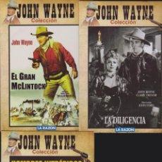 Cine: DVD JOHN WAYNE COLECCION , LOTE 5 DVD - VER TITULOS EN FOTOS - WESTERN. Lote 38644734