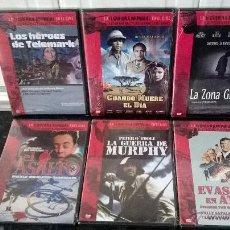 Cine: COLECCION LA II GUERRA MUNDIAL EN EL CINE LAS PEQUEÑAS Y LAS GRANDES HISTORIAS LOTE 6 DVD. Lote 47993094