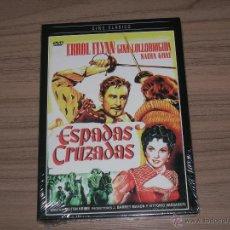 Cine: ESPADAS CRUZADAS DVD ERROL FLYNN GINA LOLLOBRIGIDA NUEVA PRECINTADA. Lote 253442330