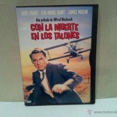 Cine: CON LA MUERTE EN LOS TALONES DE ALFRED HITCHCOCK BUEN ESTADO. Lote 48193297