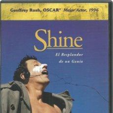 Cine - DVD DE - SHINE - BASADA EN LA VIDA DE DAVID HELFGOTT- NIÑO PRODIGIO OSCAR AL MEJOR ACTOR DEL 1996 - 48218763