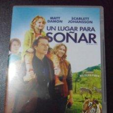Cine: UN LUGAR PARA SOÑAR. DVD DE LA PELICULA BASADA EN UNA HISTORIA REAL, CON MATT DAMON Y SCARLET JOHANS. Lote 48369699
