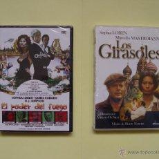 Cine: LOTE 2 DVD: SOPHIA LOREN (LOS GIRASOLES Y EL PODER DEL FUEGO) ¡ORIGINALES!. Lote 48464787