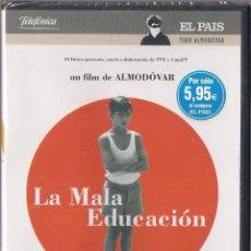 Cine: LA MALA EDUCACIÓN - PEDRO ALMODOVAR - DVD 2004 - EL PAIS. TODO ALMODOVAR. NUEVO PRECINTADO. Lote 48555802