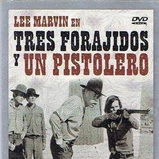Cine: DVD TRES FORAJIDOS Y UN PISTOLERO LEE MARVIN. Lote 48751790