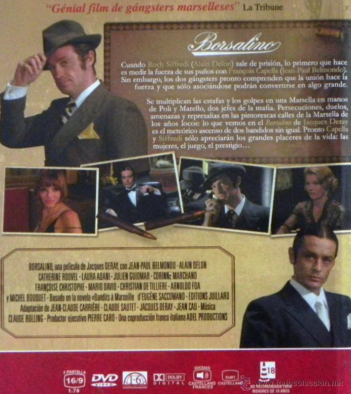 Cine: BORSALINO DVD PELÍCULA ACCIÓN SUSPENSE - JEAN-PAUL BELMONDO ALAIN DELON - GÁNSTERES MARSELLA GÁNSTER - Foto 2 - 48917236