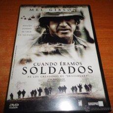 Cine: CUANDO ERAMOS SOLDADOS DVD DEL AÑO 2002 MEL GIBSON 138 MINUTOS ESPAÑOL INGLES Y CATALAN. Lote 49077207