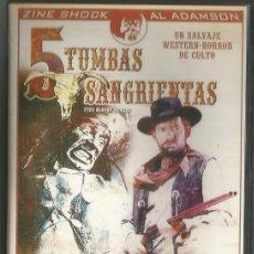 Cine: DVD - 5 TUMBAS SANGRIENTAS - DIR. AL ADAMSON. Lote 49151627