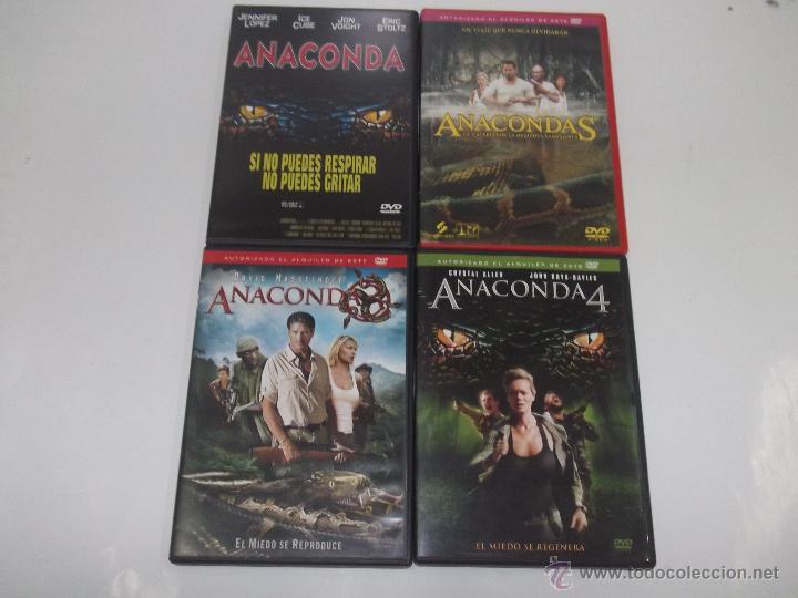 COLECCION ANACONDA EN 4 DVDS - PACK DE LA SAGA ANACONDA COMPLETA Y EN MUY BUEN ESTADO ¡UNICA EN TC! (Cine - Películas - DVD)