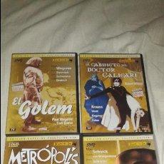 Cine: DVD EXPRESIONISMO ALEMAN. EDICION ESPECIAL. GOLEM, METROPOLIS, NOSFERATU, GABINETE DOCTOR CALIGARI. . Lote 49212273