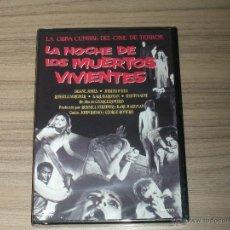 Cine: LA NOCHE DE LOS MUERTOS VIVIENTES DVD GEORGE A. ROMERO TERROR NUEVA PRECINTADA. Lote 144205706