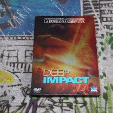 Cine: DEEP IMPACT - CAJA METÁLICA - ROBERT DUVALL - MORGAN FREEMAN - DVD. Lote 49533463