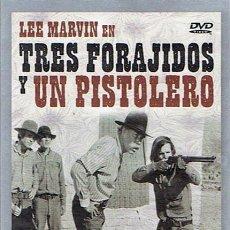 Cine: DVD TRES FORAJIDOS Y UN PISTOLERO LEE MARVIN. Lote 49703521