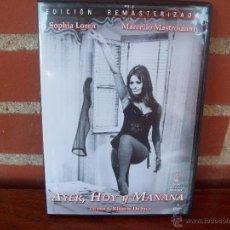 Cine: AYER, HOY Y MAÑANA - SOFIA LOREN - MARCELLO MASTROIANNI - DVD EDICION REMASTERIZADA. Lote 49740454