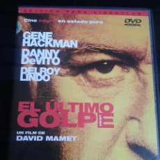 Cine: EL ÚLTIMO GOLPE **DE DAVID MAMET CON GENE HACKMAN, DANNY DEVITO, DELROY LINDO. Lote 49771896